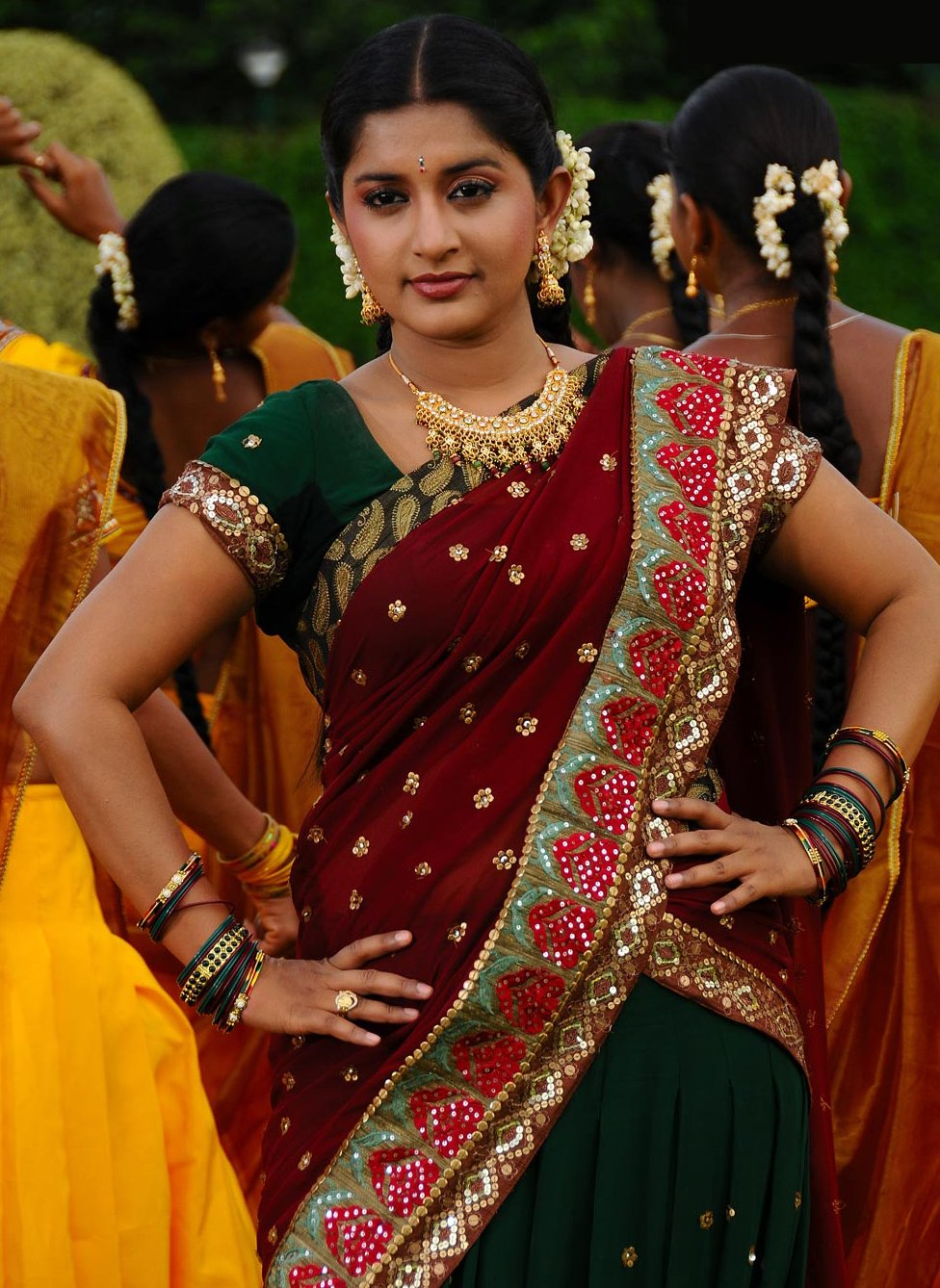 South Indian Actresses Half Saree Celebrity Amazing Only
