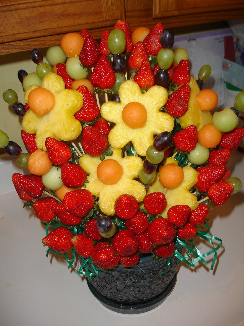 Tina 39 s place mock edible arrangement tutorial Fruit bouquet