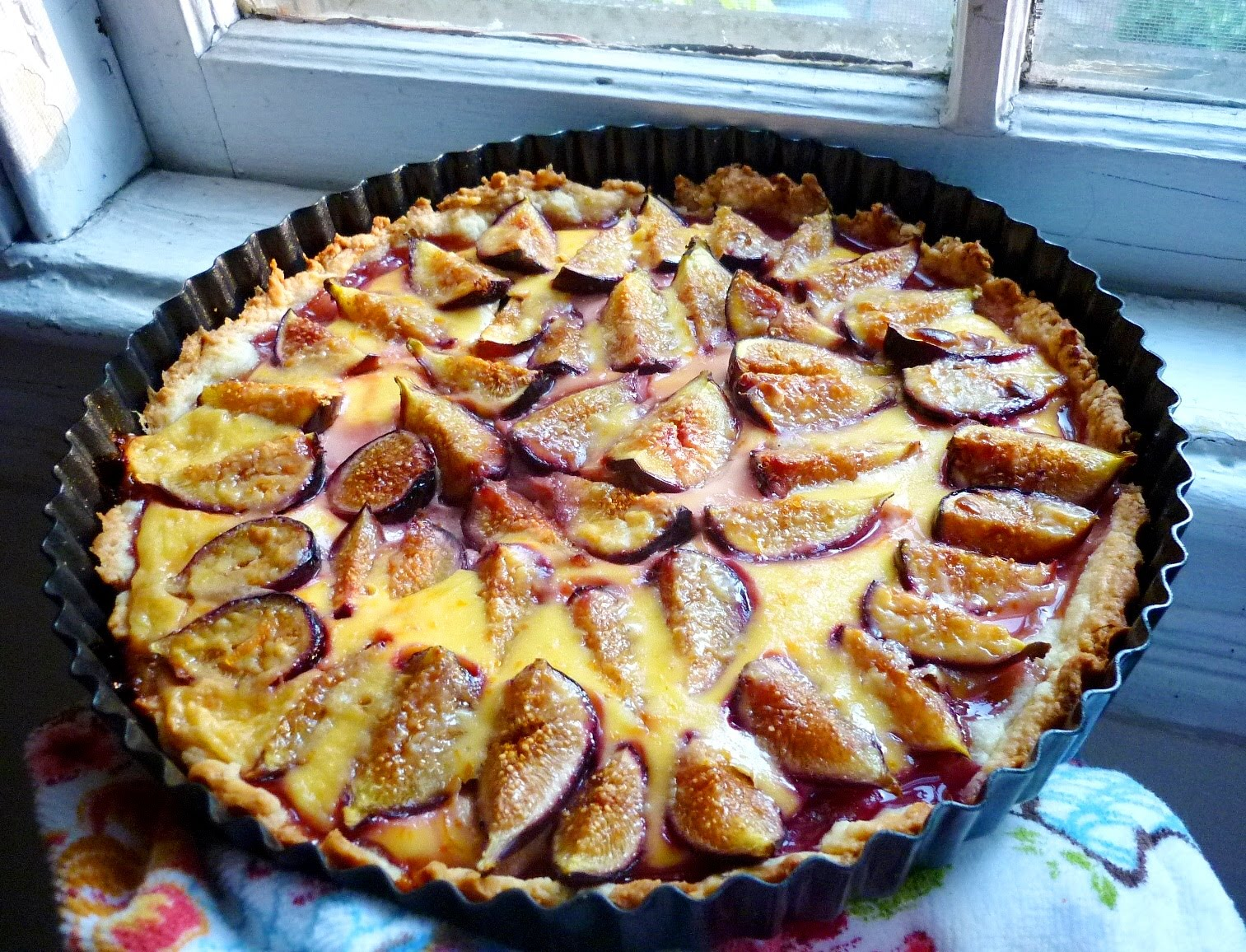 Food for Poems: Fresh Fig Tart with Citrus Custard