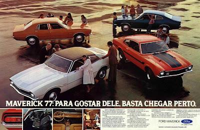 Folder do Maverick 1977: Para gostar dele, basta chegar perto.
