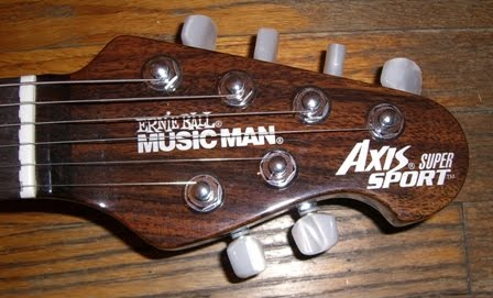 Rex And The Bass Musicman Month Rosewood Axis Super Sport Guitar