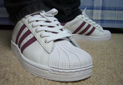 ad3d0ca14595 Barry the Butcher  Adidas Superstar Burgundy Custom