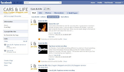 Facebook page of Cars & Life