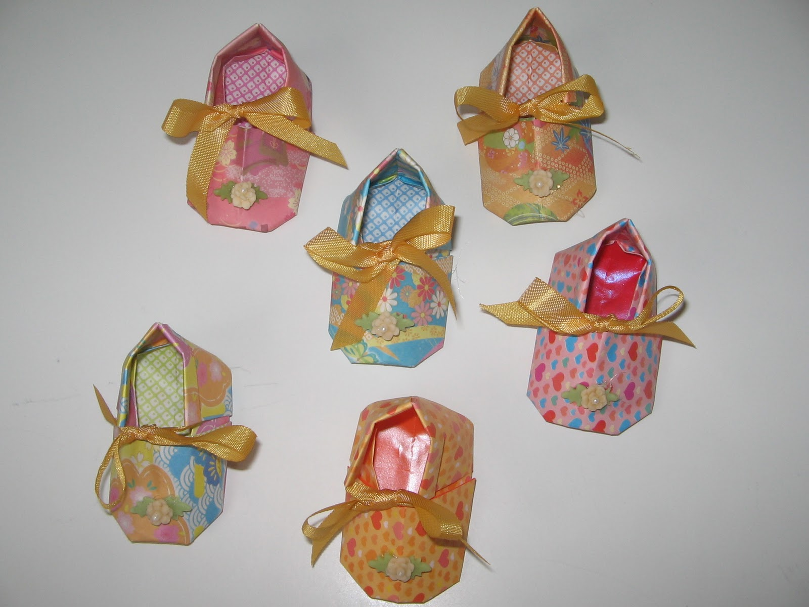 Aparador Com Gavetas Para Quarto ~ Arte da Katia Sapatinhos de Origami