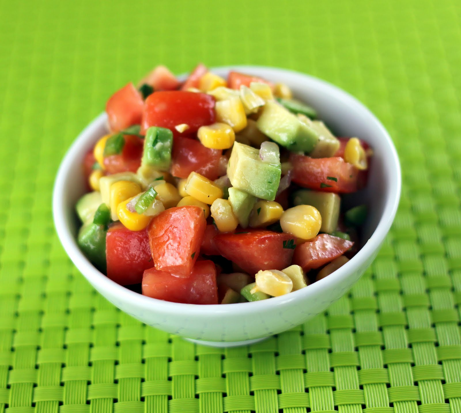 Sugar Cooking: Tomato, Corn, Avocado Salsa