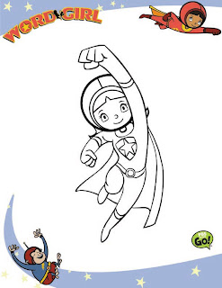 Word Girl coloring page