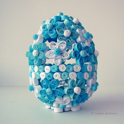 квиллинг quilling пасхальное яйцо