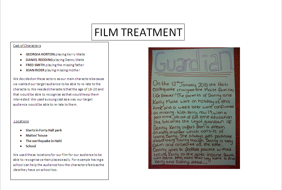 film treatment The art of writing effective treatments and outlines for film and television projects.