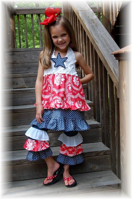 Patriotic Halter Dress/ Jeans Set $125