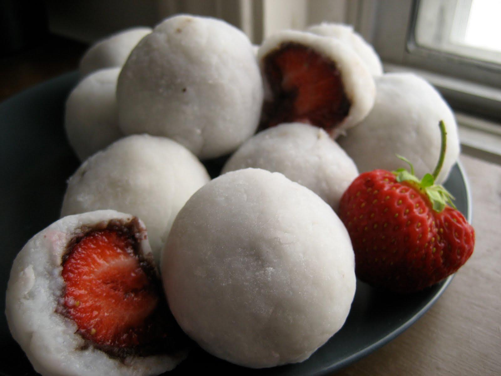 Wild Honey: Strawberry Mochi (Ichigo Daifuku)