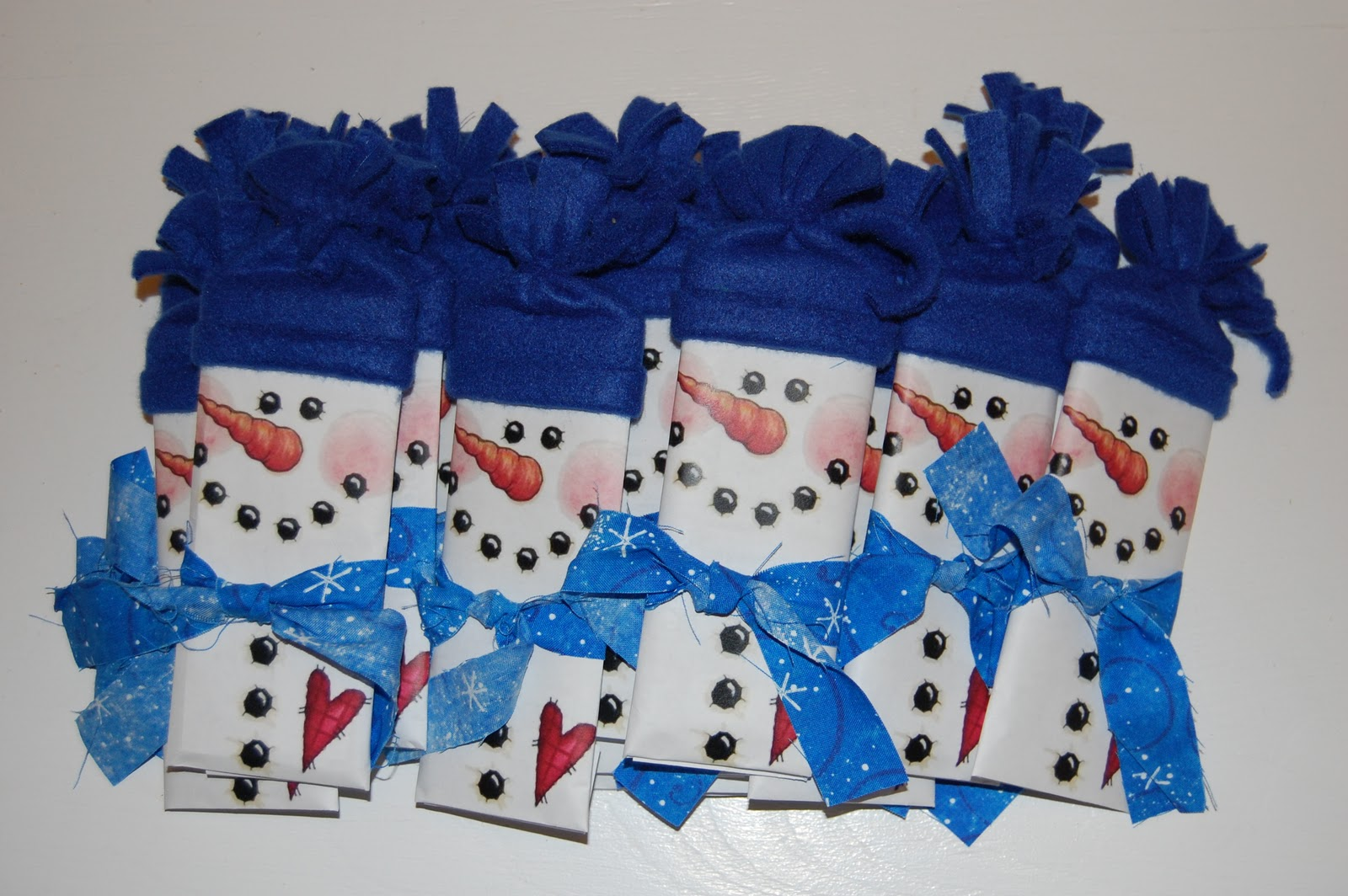 Snowman Wrapped Chocolate Bars