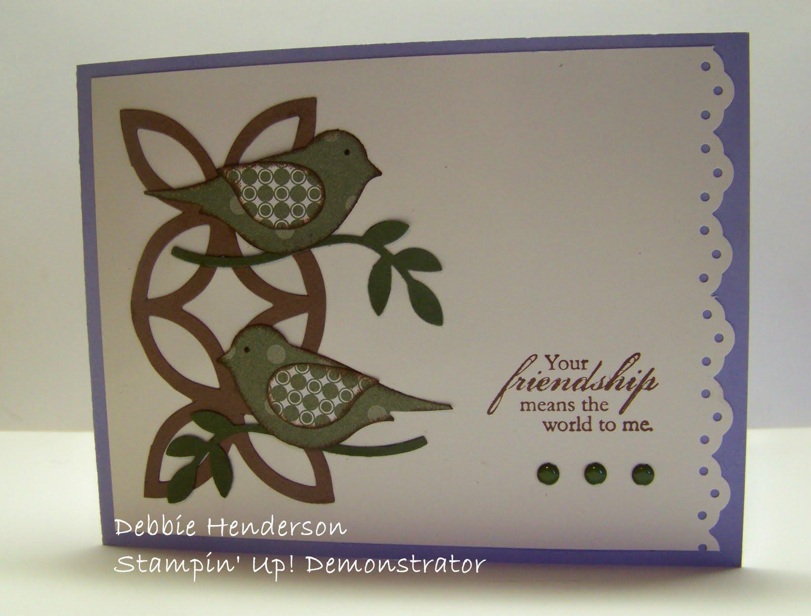 debbie u0026 39 s designs  bird punch cards
