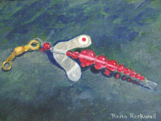 Rena rockwell art may 2011 for Dragonfly fishing lure