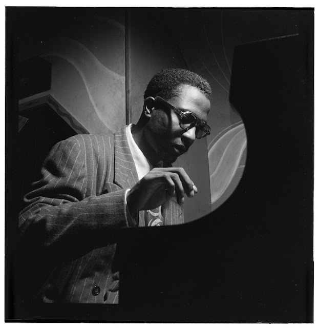 Portrait of Thelonious Monk, Minton's Playhouse, New York, N.Y., ca. Sept. 1947. William P. Gottlieb Collection (Library of Congress)