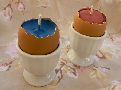 Waldorf Beeswax Easter Egg Candles