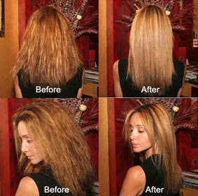 Les moyens selon la sortie des cheveux avec les rappels