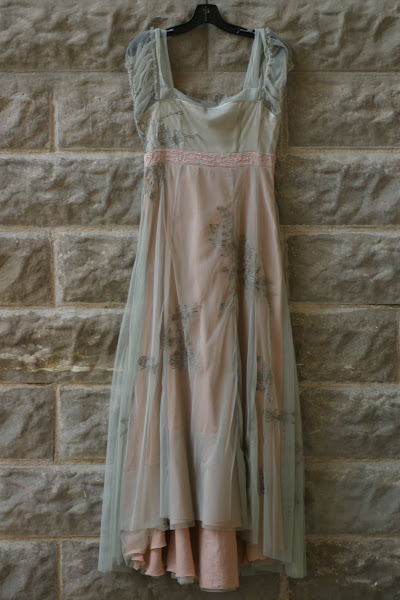 Sage and Peach Tulle Dress