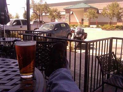 motorcycle and beer