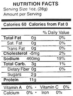 buffalo jerky nutrition facts
