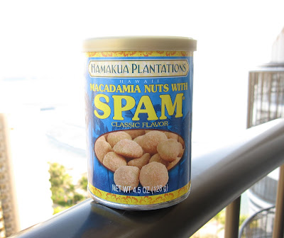 Spam flavored macadamia nuts