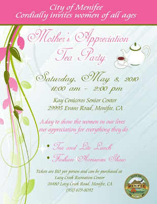 menifee mother's day tea party