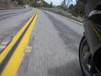 double yellow painted line highway