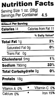 sturgis beef jerky nutrition facts