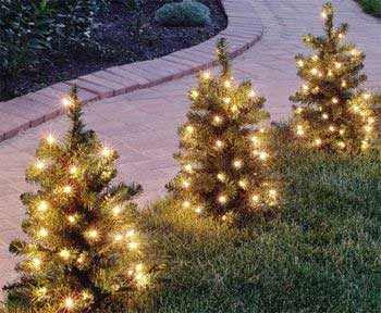 Artificial Walkway Tree Prelit