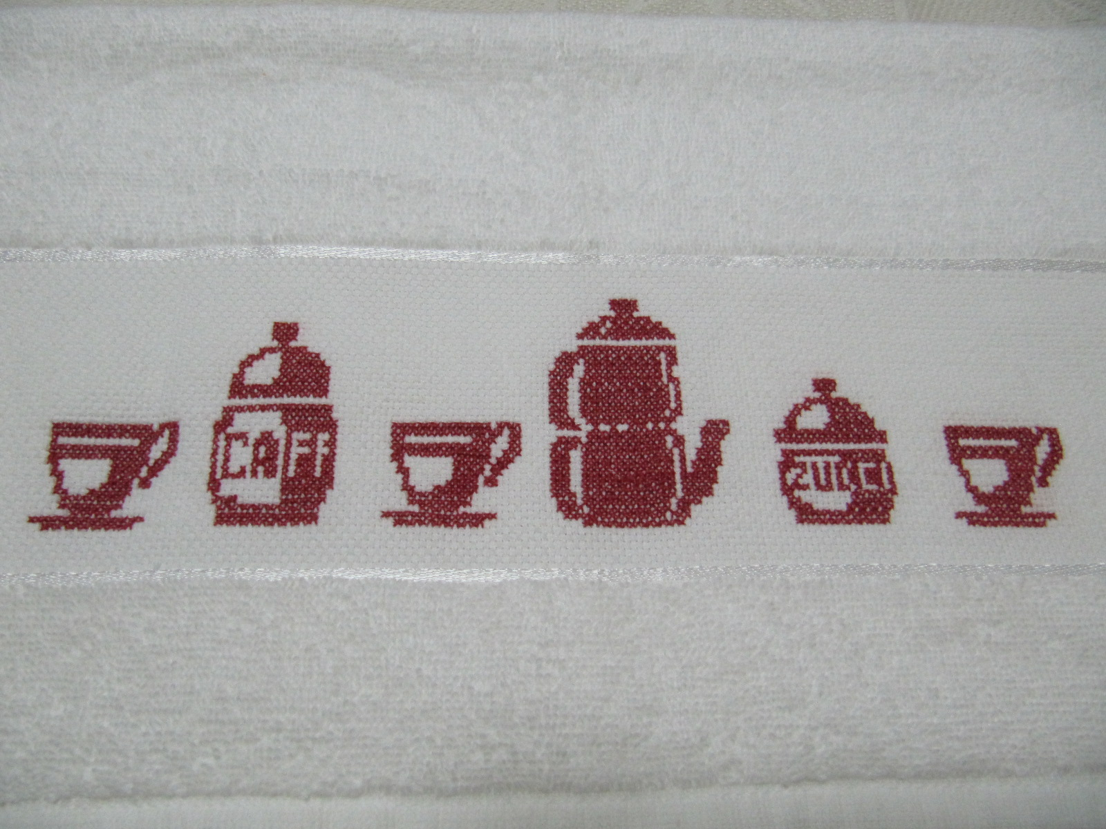 Labores de mari angeles pa o de cocina bordado con punto for Esquemas punto de cruz cocina