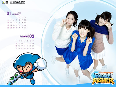 Girls' Generation ~ Collection 2 ~ Nexon Bubble Fighter Calendar 2009