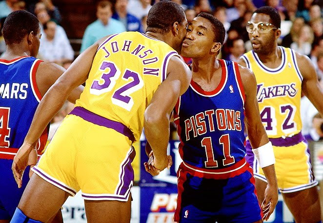 Tangisan Akhiri Pertengkaran Magic Johnson dan Isiah Thomas