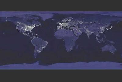 Mundi Noturno Mapa Mundi Noturno