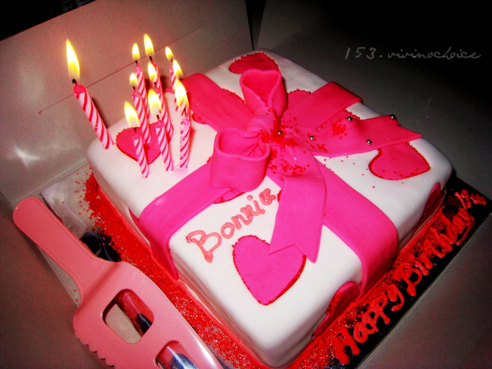 o choc happy birthday bonnie her birthday cake handmade by joan clap clap publicscrutiny Gallery