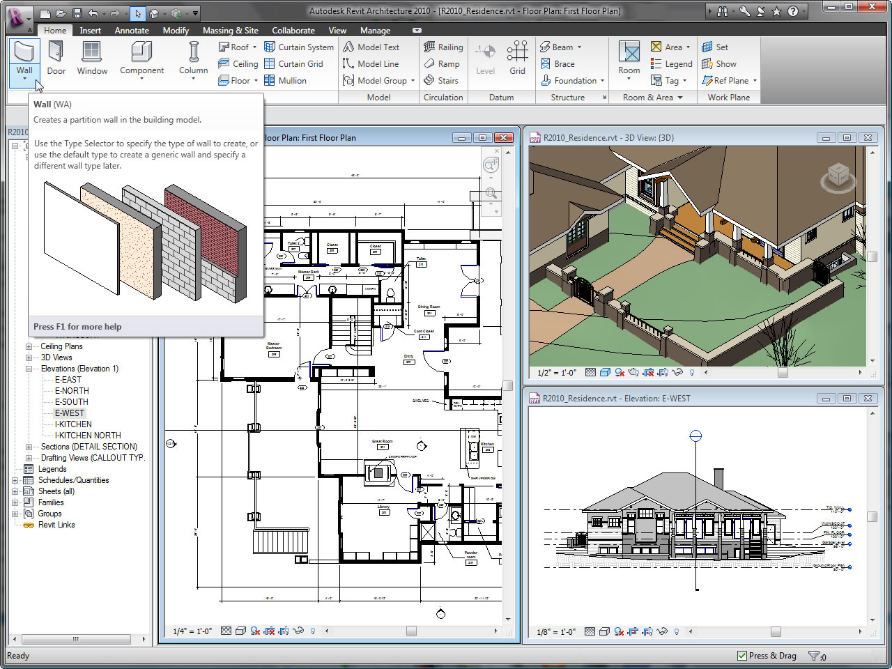Corso revit for 2d architectural drawing software free