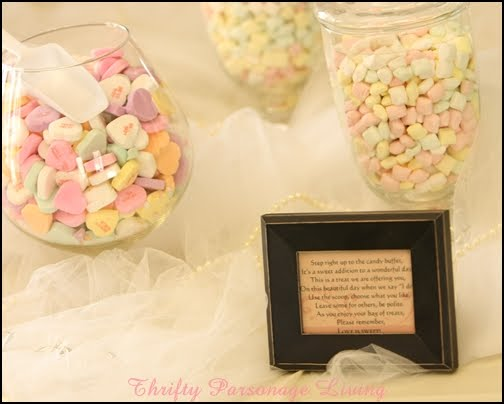 We incorporated candy that coordinated with the wedding 39s color