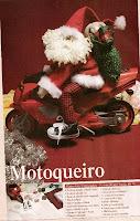 Passo-a-Passo - Papai Noel motoqueiro