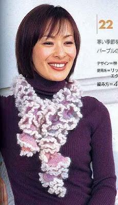 Cachecol em Crochet