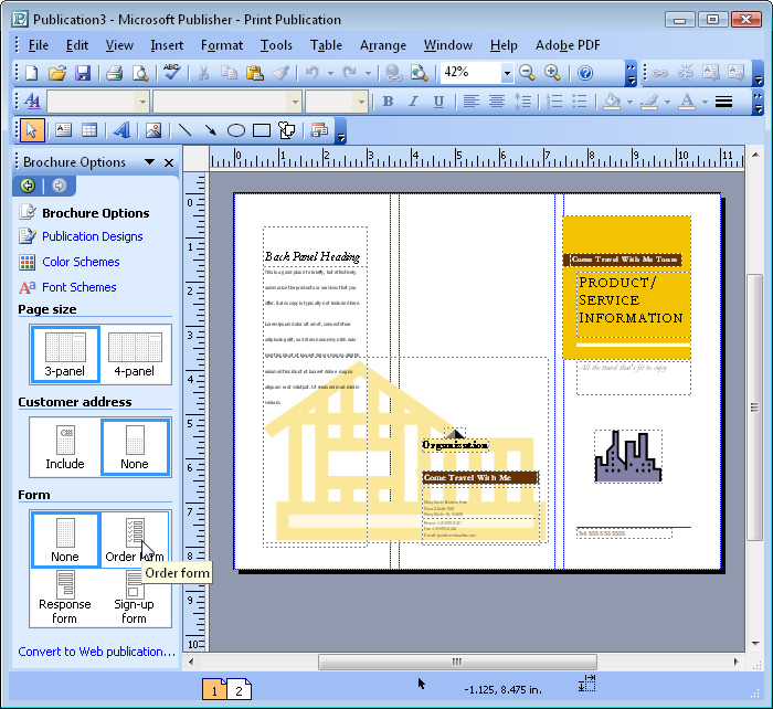 Use microsoft publisher to print brochure computer technology for Microsoft publisher brochure