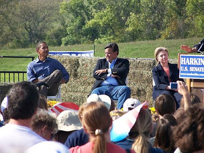 أوباما و هيلارى و ريتشاردسون