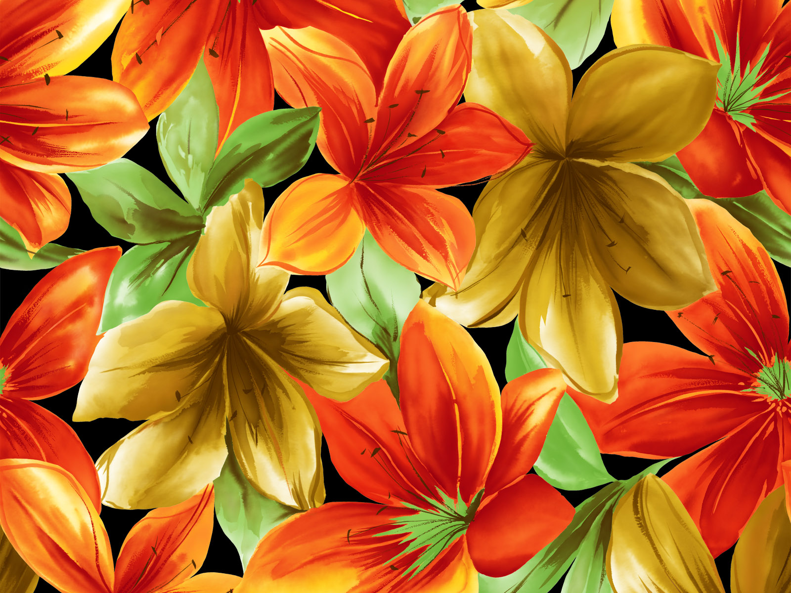 High Quality Desktop Wallpaper Downloads Amazing Flower Paintings