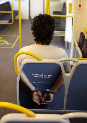 Publicidad hasta en el asiento del bus