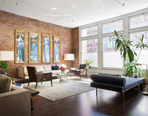 Exposed brick b a s blog for Brick wall living room ideas