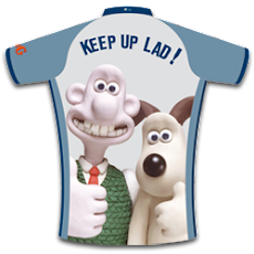 cracking cycling in Shropshire Gromit