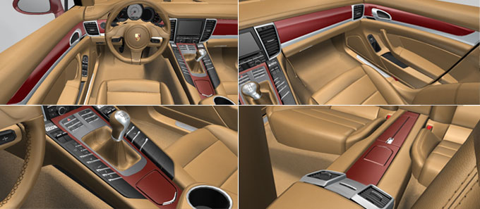 porsche cars accessories interior package painted in exterior color. Black Bedroom Furniture Sets. Home Design Ideas