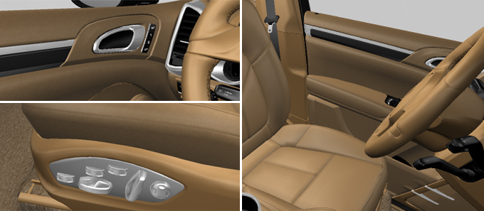porsche cars accessories 14 way power seats with memory. Black Bedroom Furniture Sets. Home Design Ideas