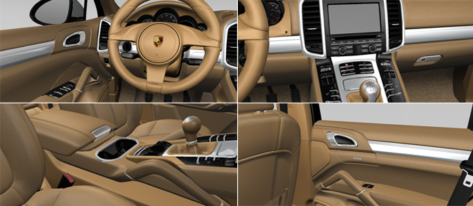 Porsche cars accessories october 2010 Porsche cayenne interior parts
