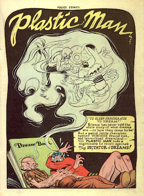 Plastic Man has a nightmare in this vintage golden age collector's comic book by artist Jack Cole.