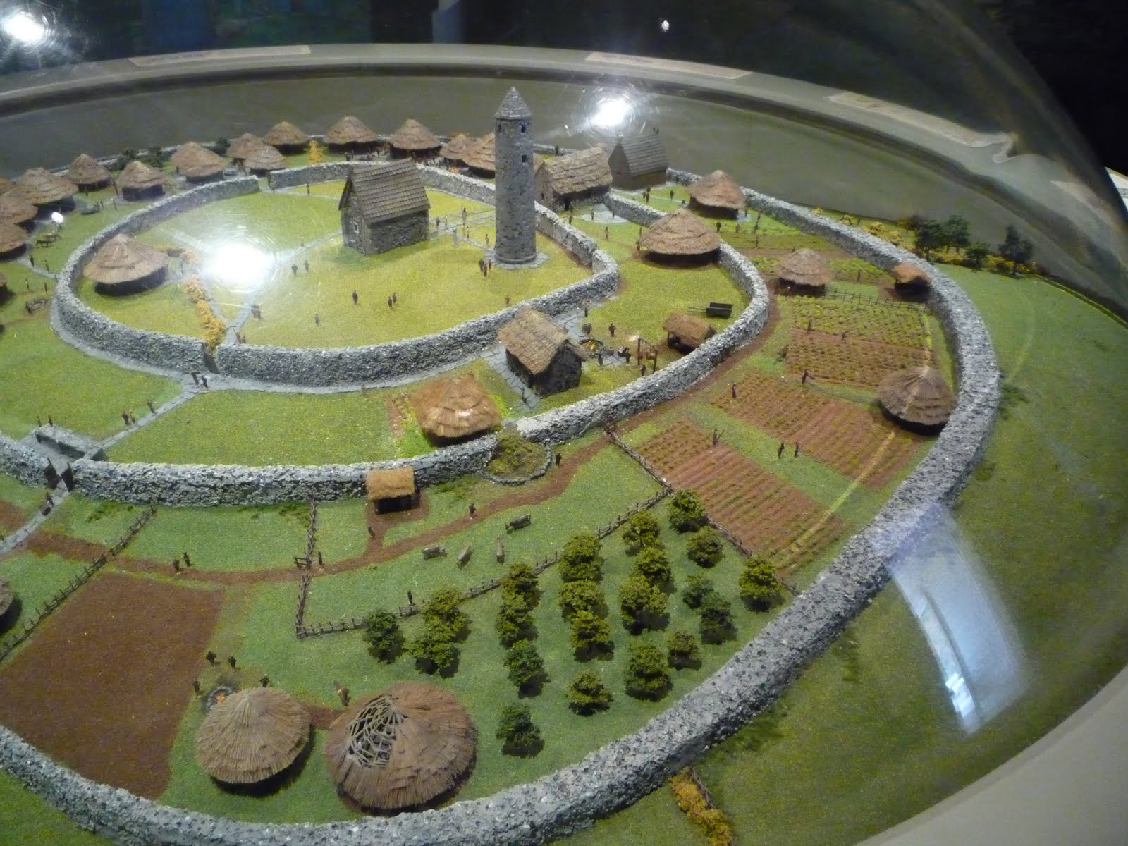 Model of Nendrum in Visitor's Centre