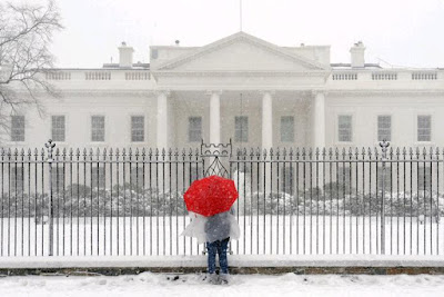 Snowcovered White House