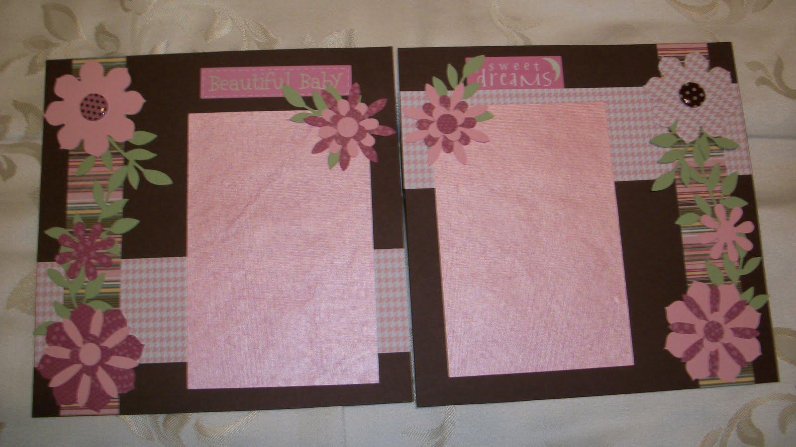 Scrapbook ideas for baby girl - Baby Girl Scrapbook